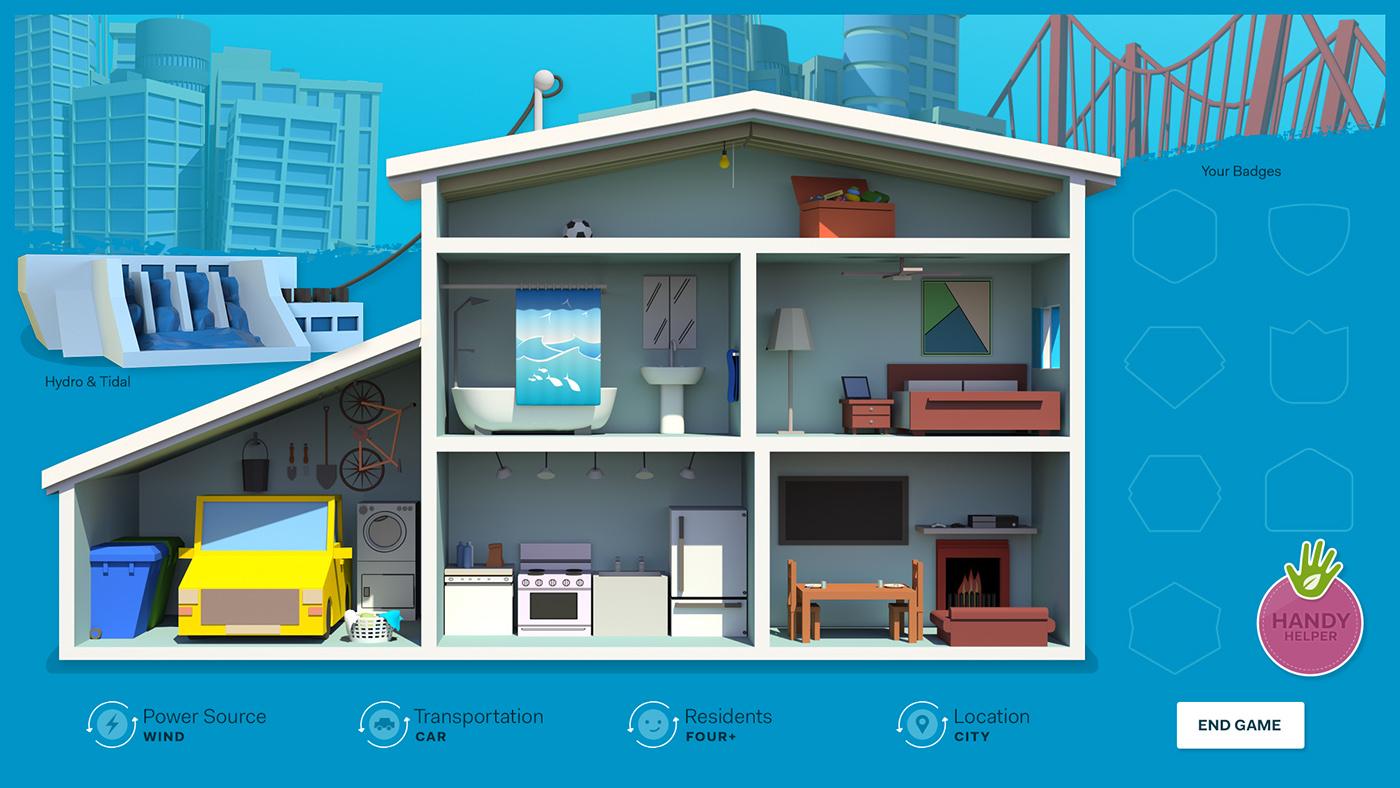 world Isometric 3D interactive dollhouse