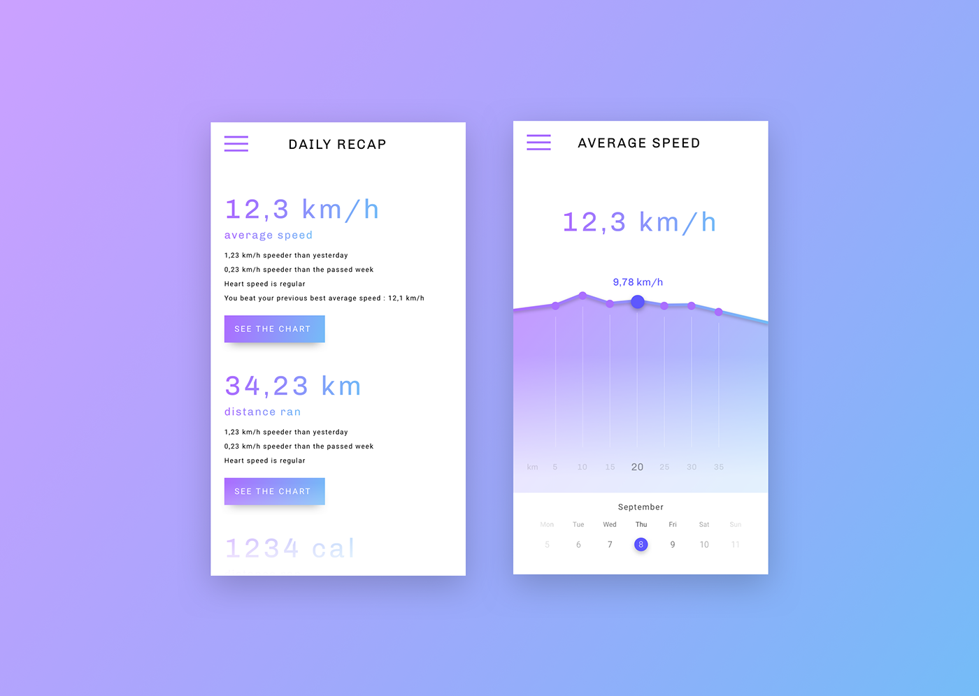 workout tracker app mobile design UI ux Interface daily ui Webdesign tracking