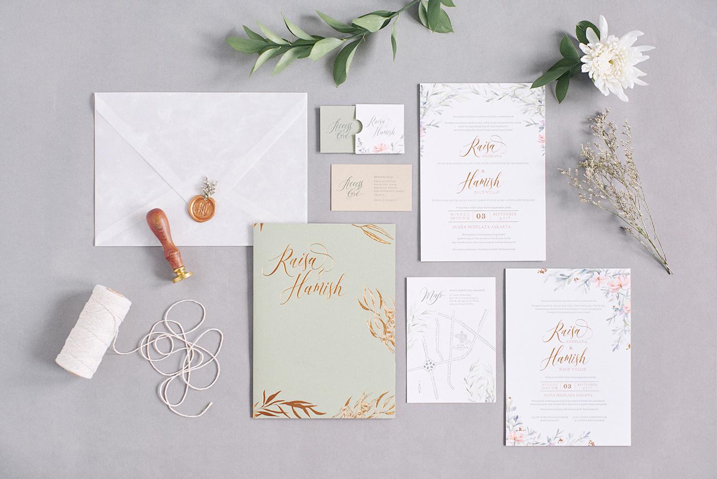 Wedding Invitation Raisa On Behance