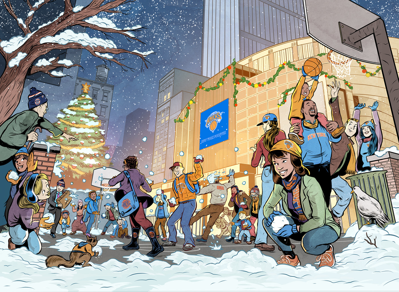 Image may contain: cartoon, snow and skiing