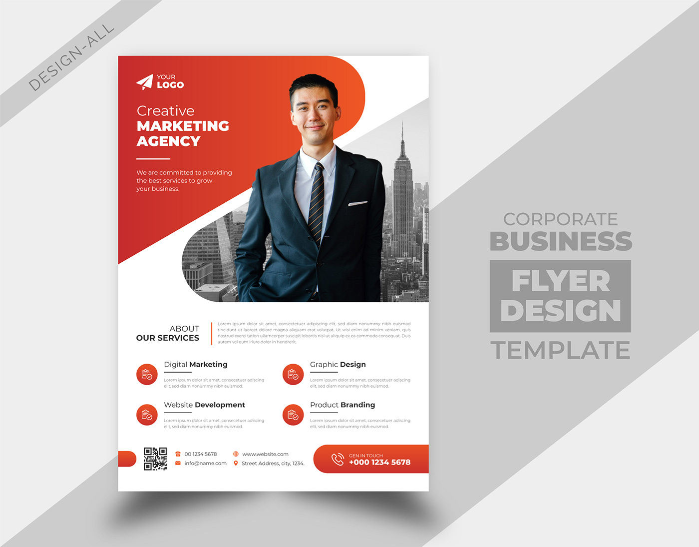 annual report brochure business cover design flyer leaflet magazine poster template