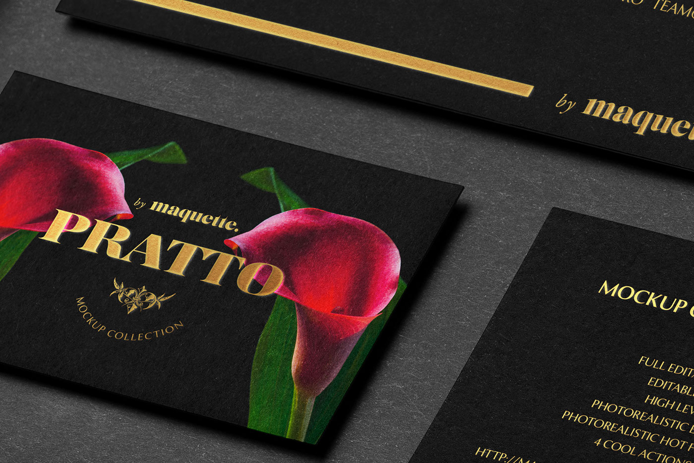 Black Corporate Stationery PSD Mockup on Behance