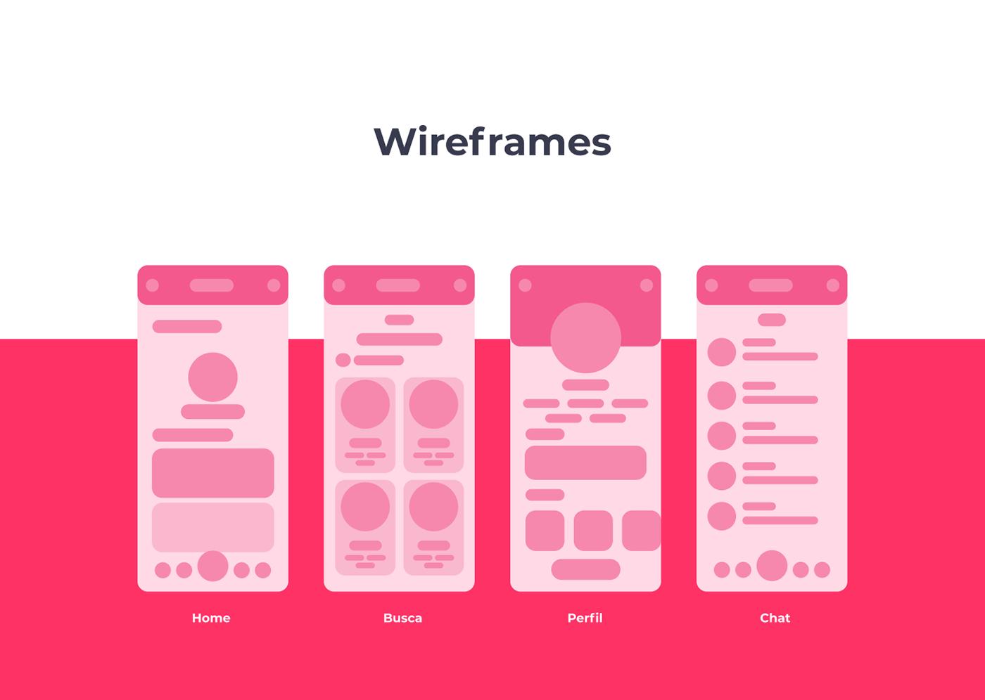 aplicativo app design ui design UX mobile white UI