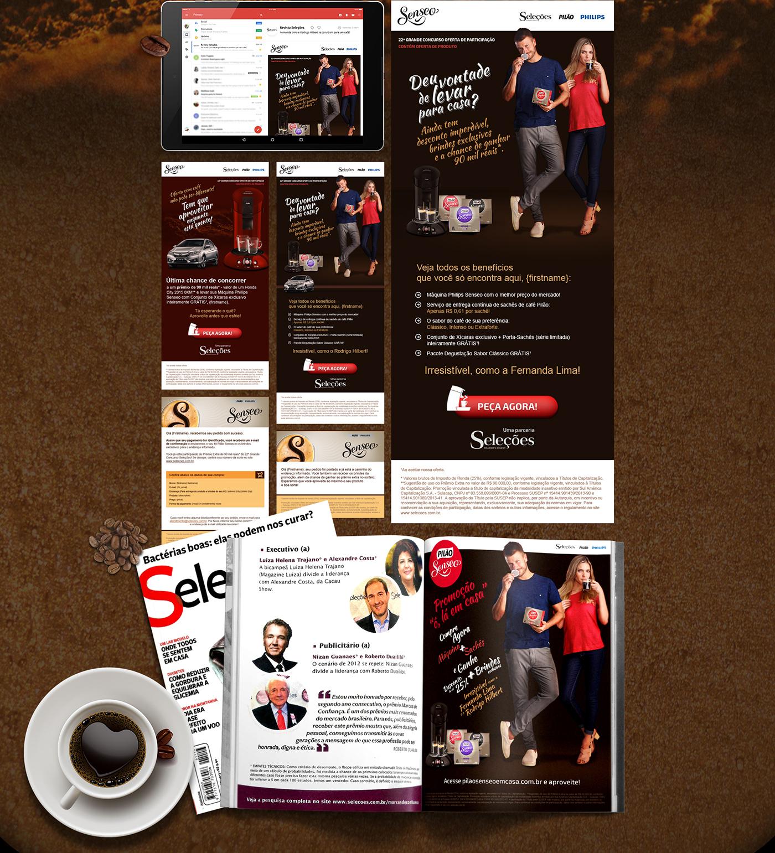 HotSite campanha Advertising  Pilão Senseo cafe Coffee Philips Email anúncio