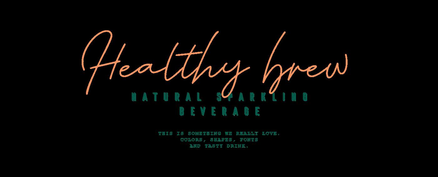 drink lemonade Packaging beverage packaging design Label sparkling