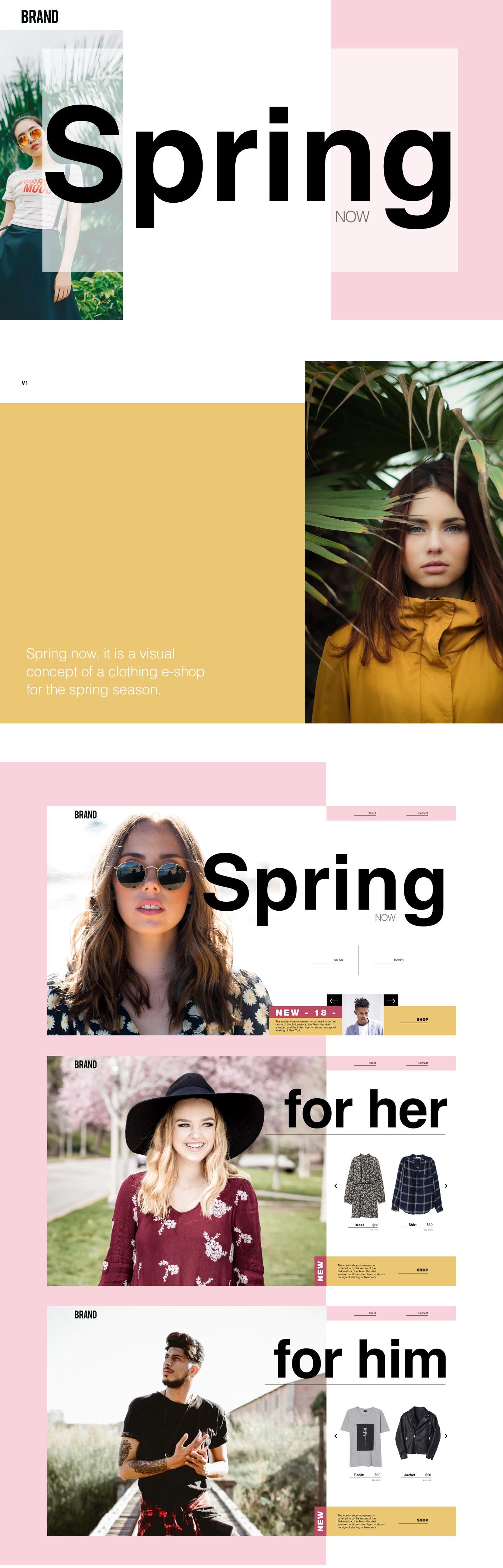 Web uiux Webdesign Fashion  season UIdesigner