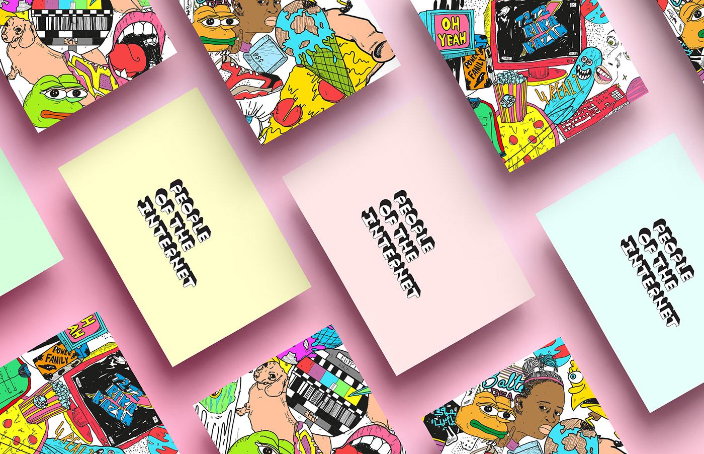 Internet illustrations digital people Advertising  branding  typography   motion Logotype visualidentity