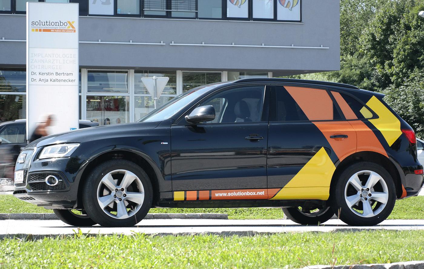 car car advertising branding  car wrap ctg sticker design