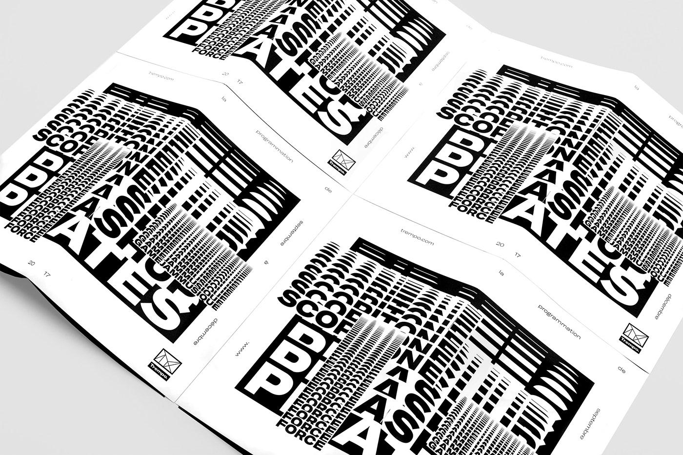 trempolino Nantes typography   season typographic black and white