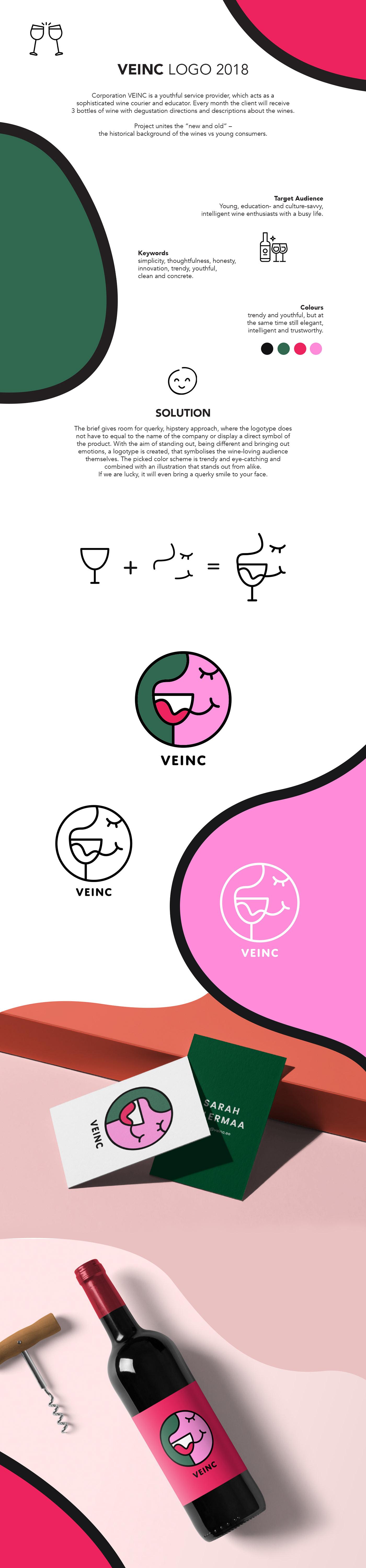 wine ILLUSTRATION  branding  Fun querky Logo Design logo line drawing vector art graphic art