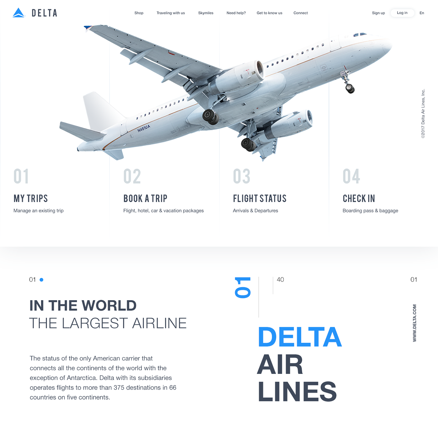 Delta air Airlines ios iphone Minimalism flat animation  plane design