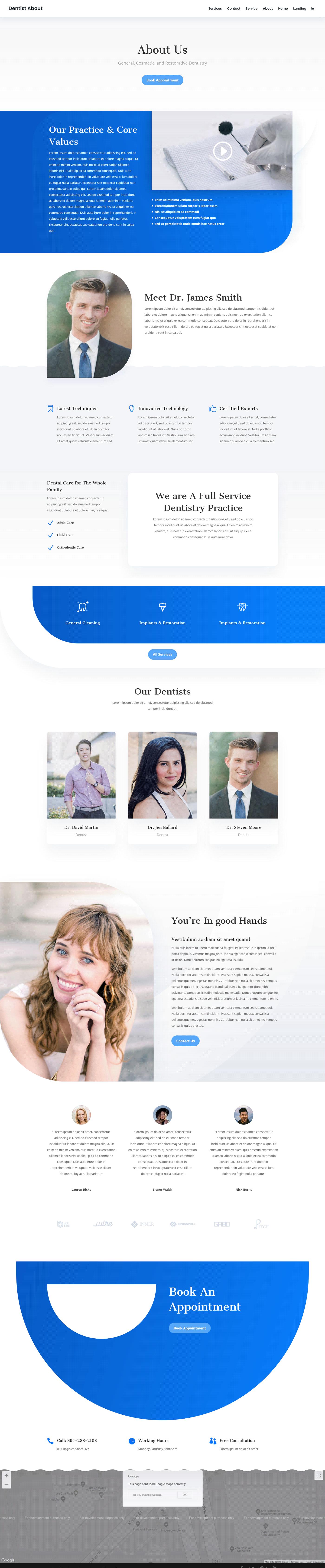 Business Website corporate website dentist website landing page design modern website modern website design Professional website web development  Website Design zaman ador