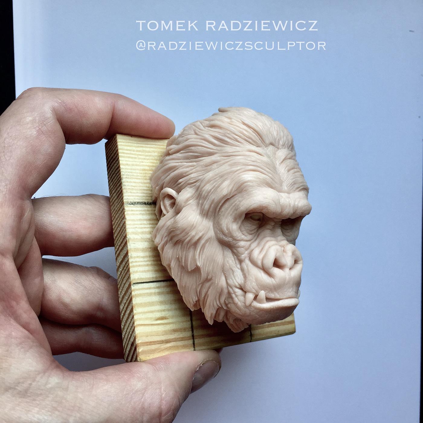 Character gorilla sculpture