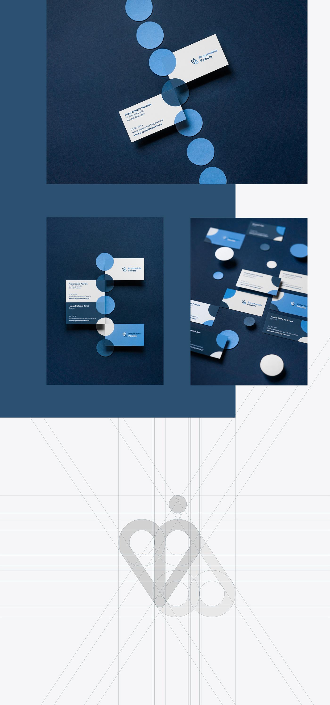 branding  business card clinic dots identity logo Logo Design Medical Clinic