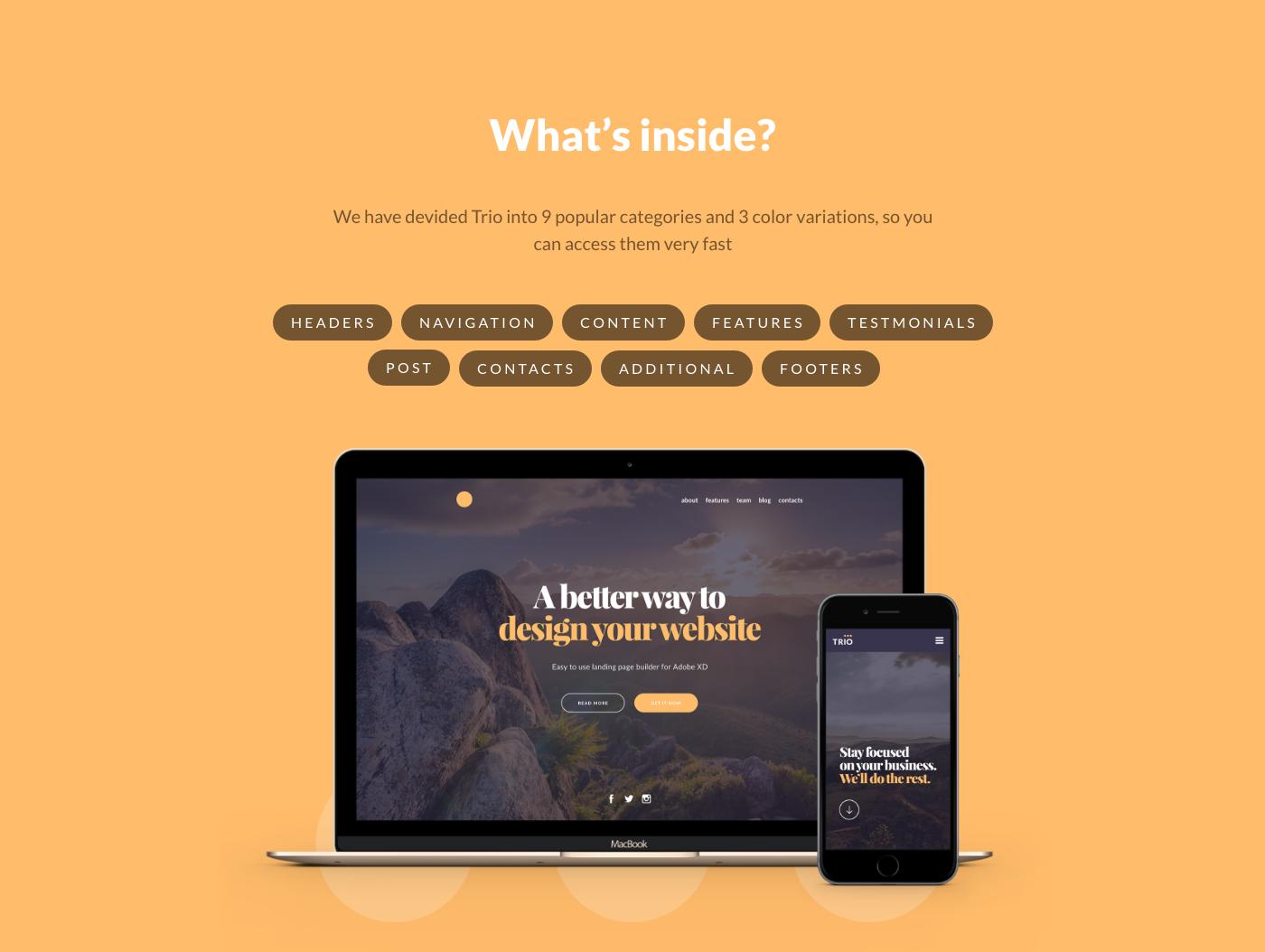 uikit ux projectcomet nickparker landing presentation page Web design MadeWithAdobeXd