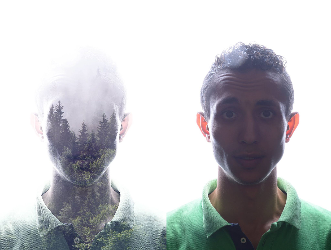 double exposure iManipulate art design effect photoshop PS light room
