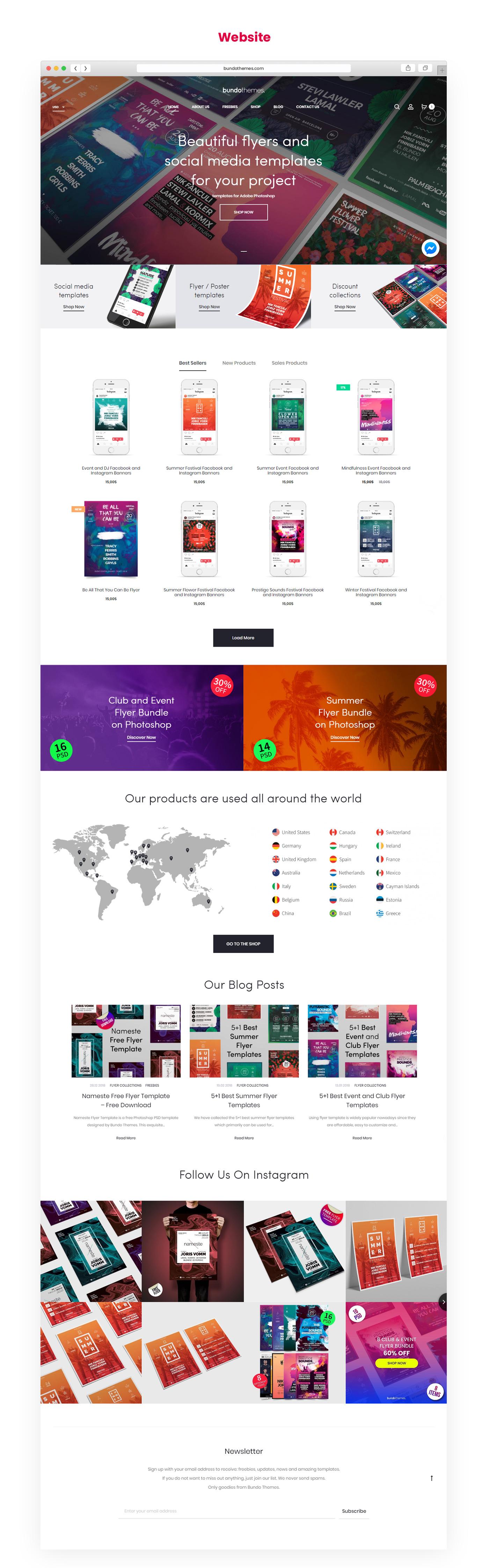 Webdesign UI ux branding  Website webshop templates art direction  flyer templates Responsive