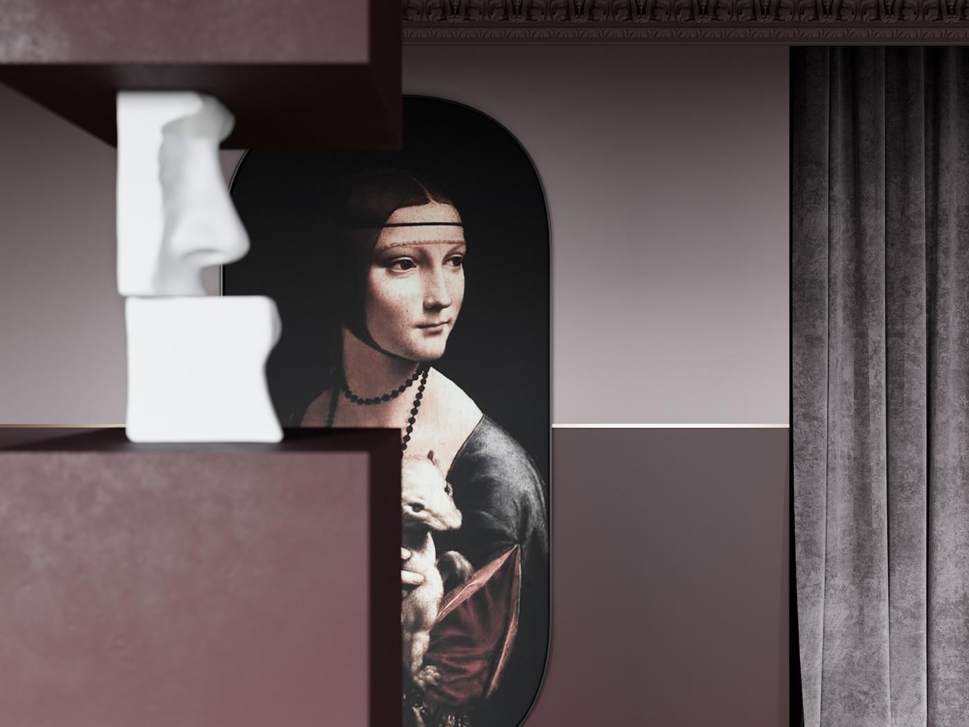 Image may contain: wall, human face and indoor