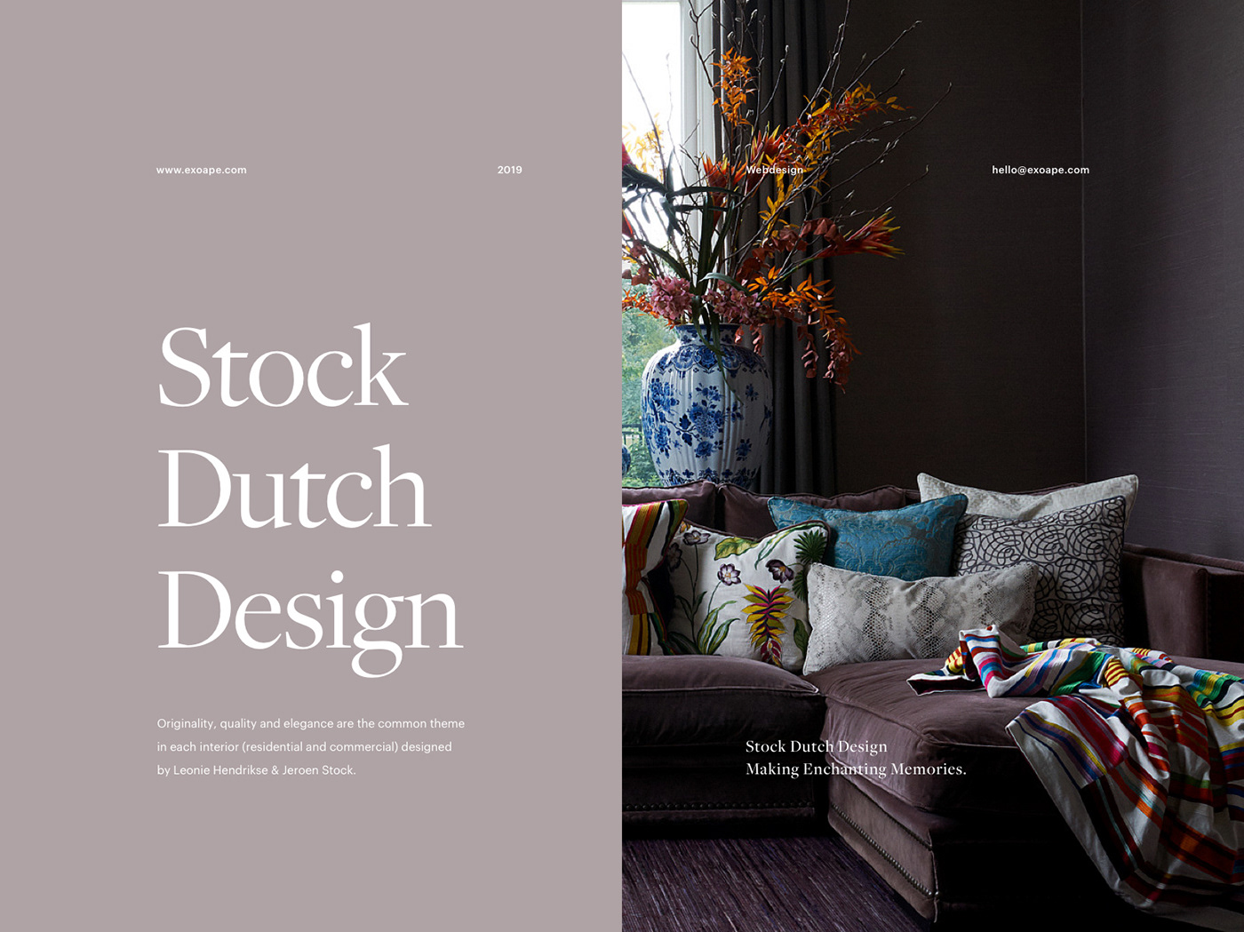 header introduction image about the interior design company named Stock Dutch Design