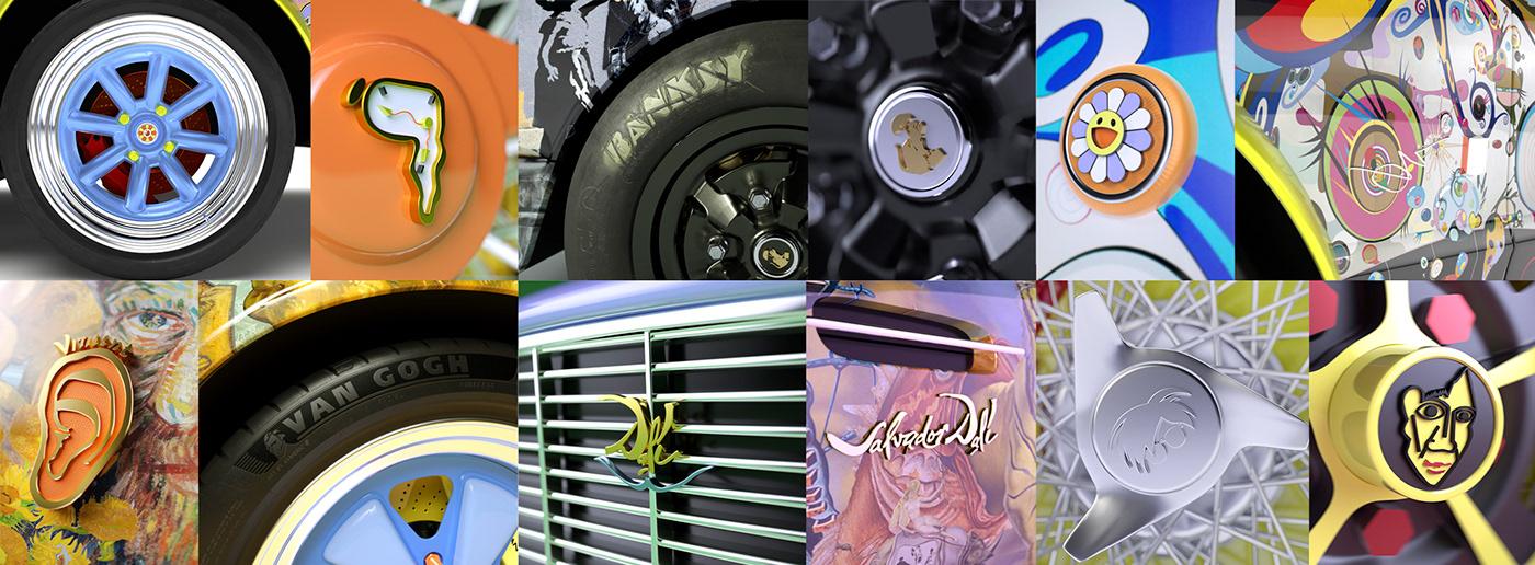 3D Modelling art art direction  Cars design Digital Art  fine art skateboard