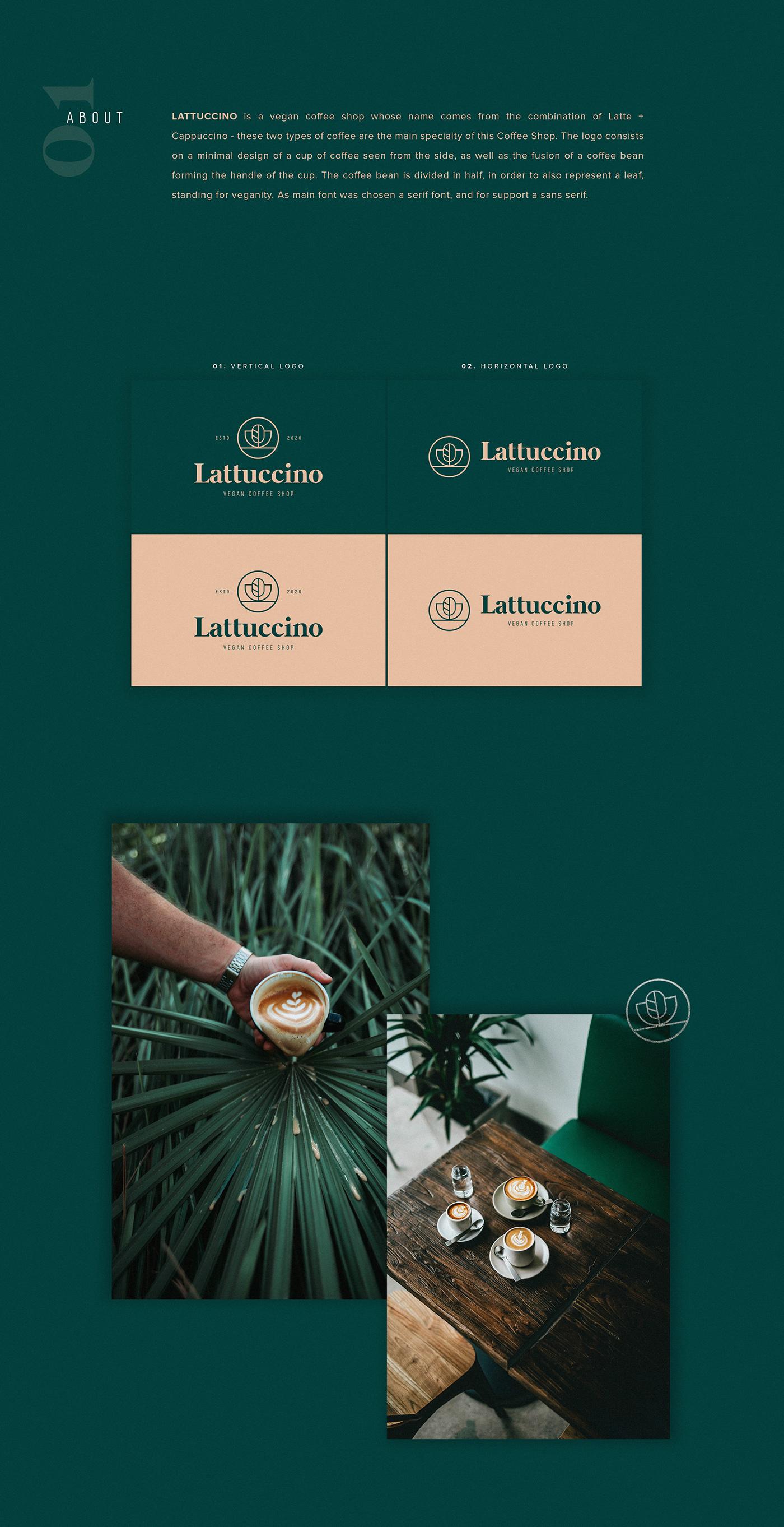 branding  Coffee elegant Food  logo minimal restaurant vegan stationary