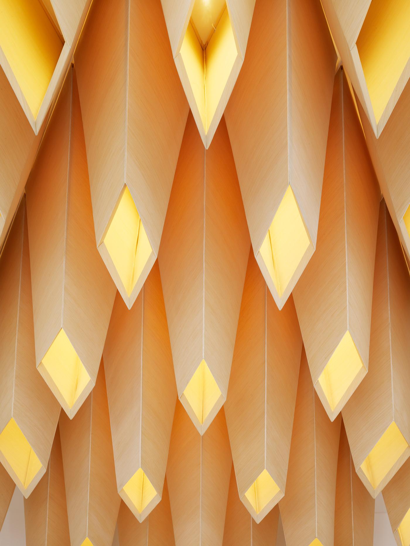 IwamotoScott architecture san francisco Lobby public art digital fabrication wood installation popos interior design