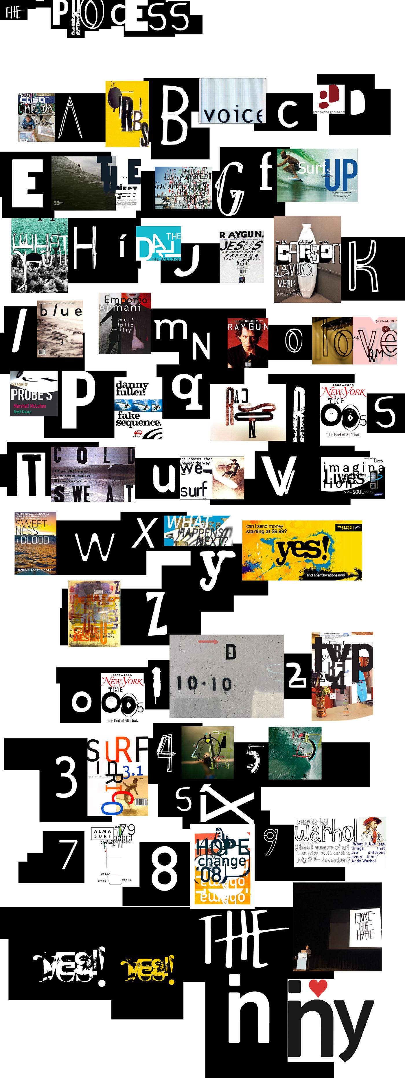 David Carson font typography