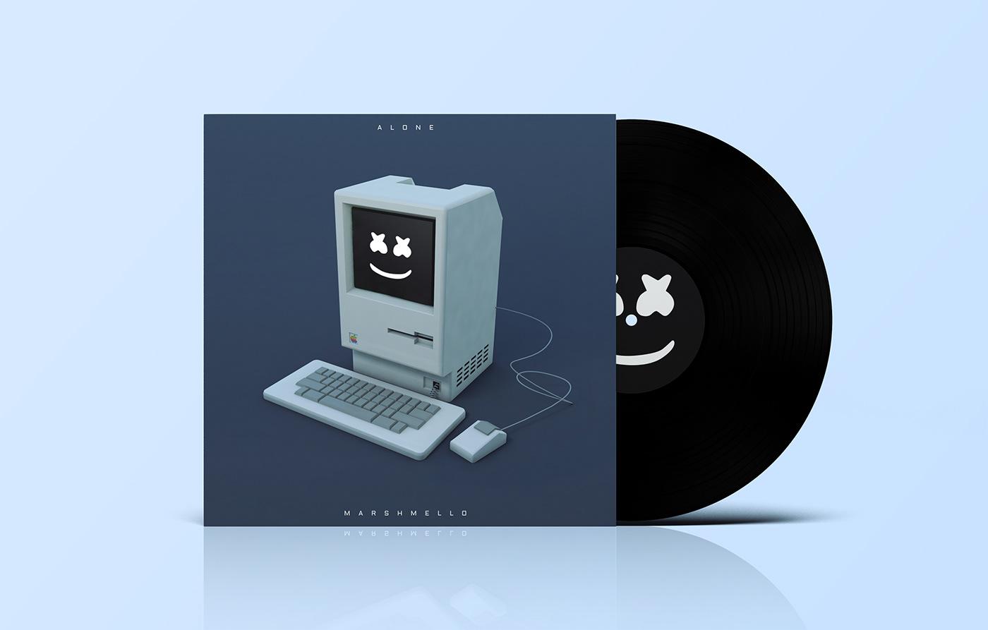 graphic design  cinema4d gif motion album cover typography   3D adobeawards