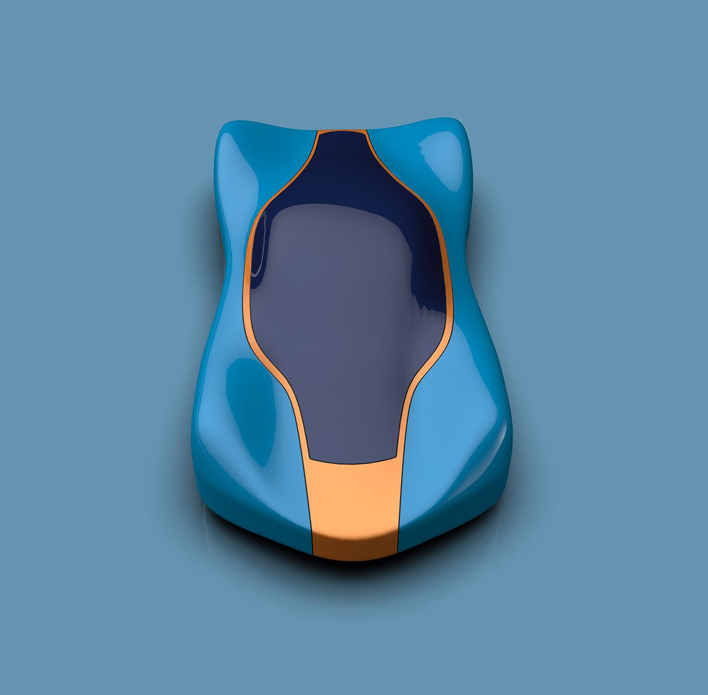 art automotive   Digital Art  digital sculpture fine art Form formstudy organic sculpture shape