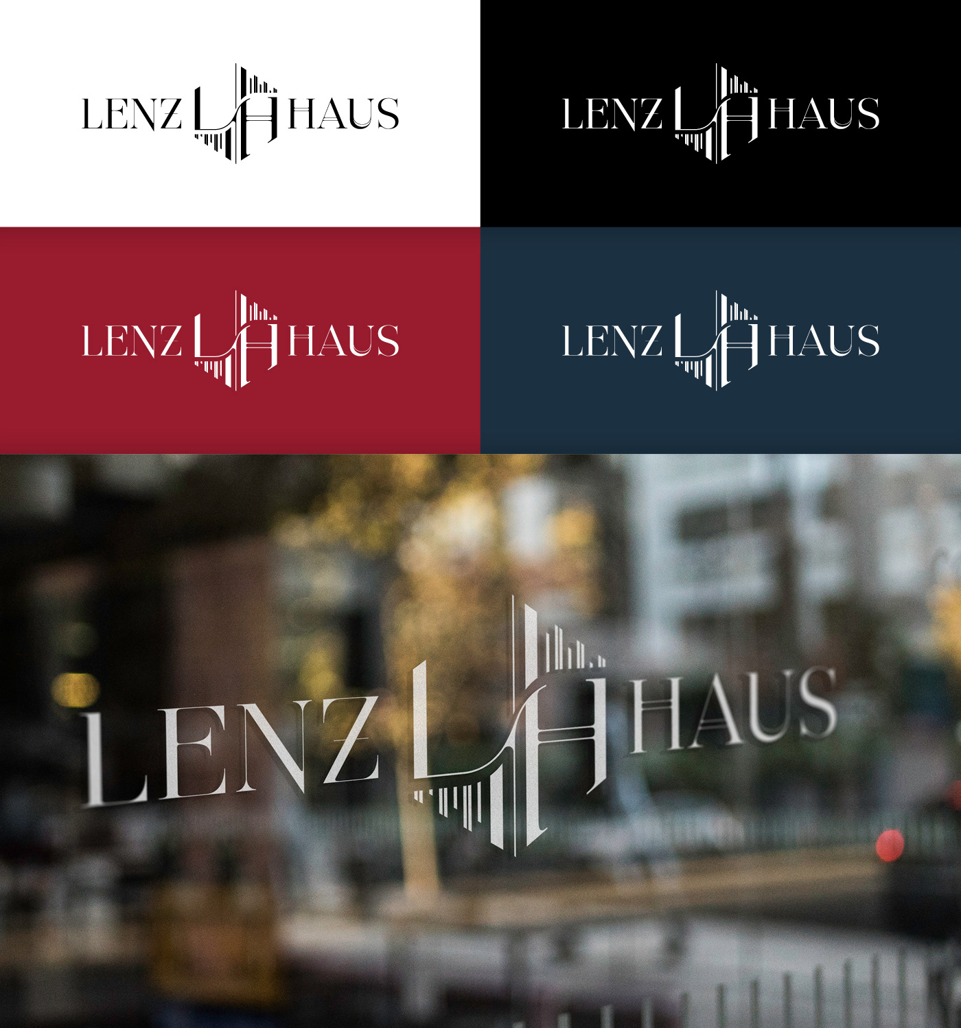 art deco hamburg berlin oslo vienna branding  art direction  real estate Lenzhaus architecture