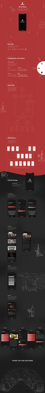 ios app design mobile wine drink application ui ux user flow Case Study Creative Design