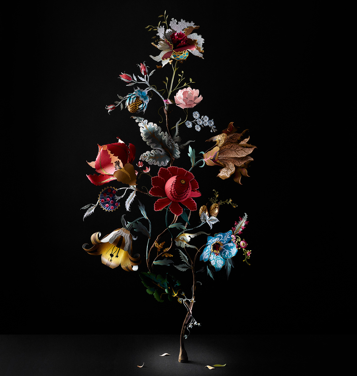 artemis baroque Flowers paper paperart Photography  Victorian wallpaper
