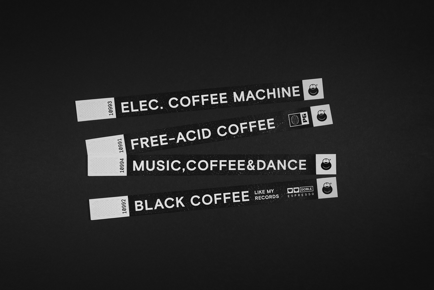 Coffee bar electronic music cafe music club black menu synthesizer cocktails