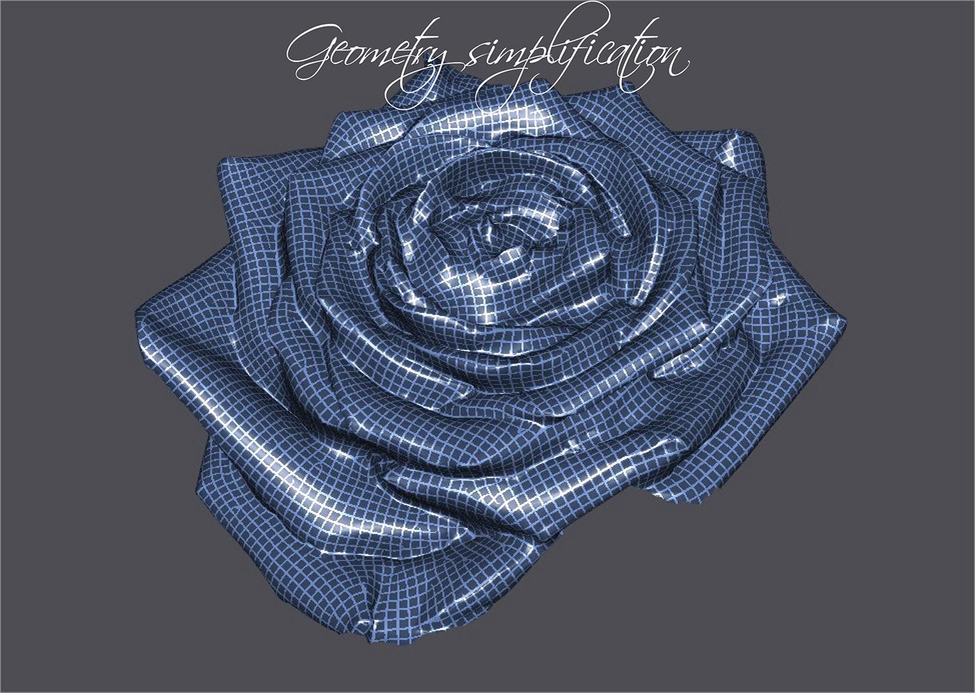 3d scan geometrical scan Reverse Engineering rose jewelry box