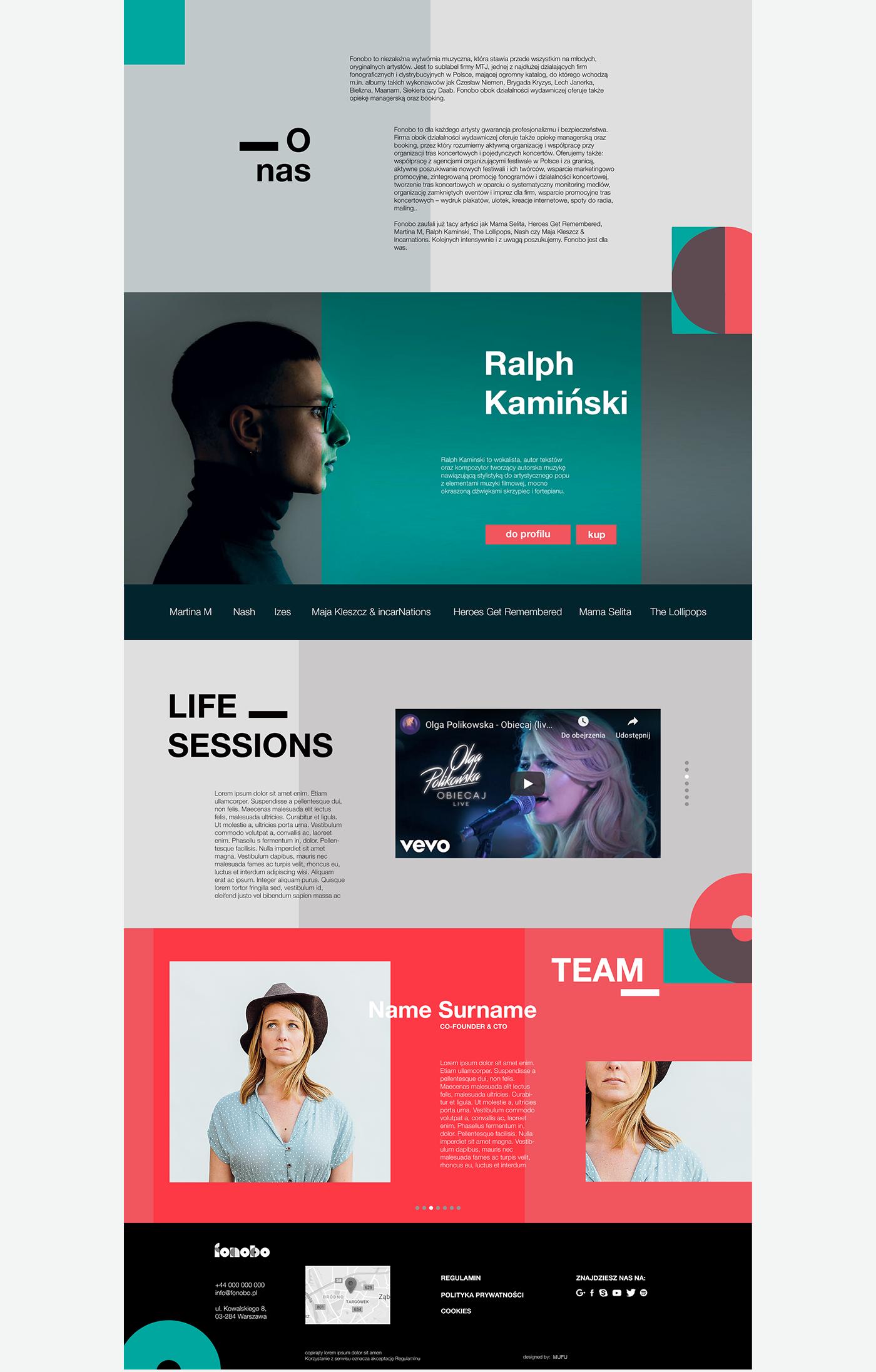 Web Design  UI/UX design Web Music Company