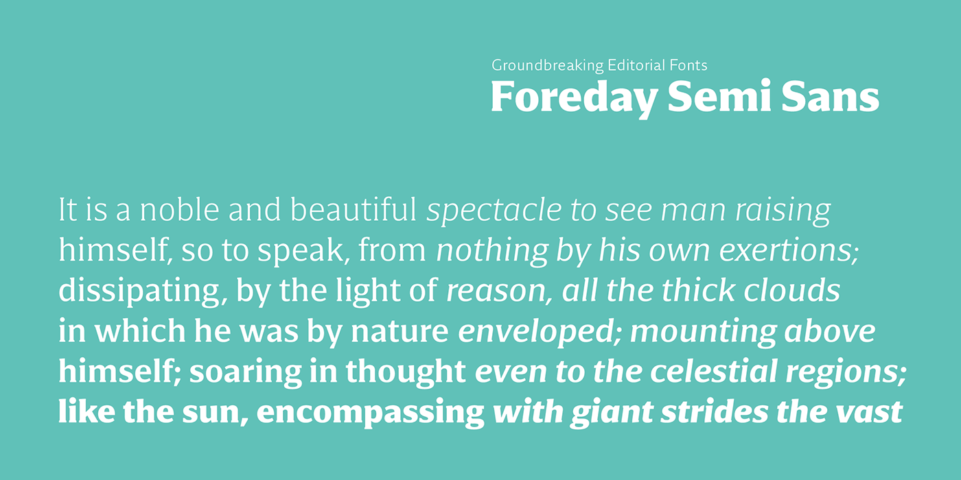 Variable Font Typeface font serif sans semi-sans semi-serif editorial Type System