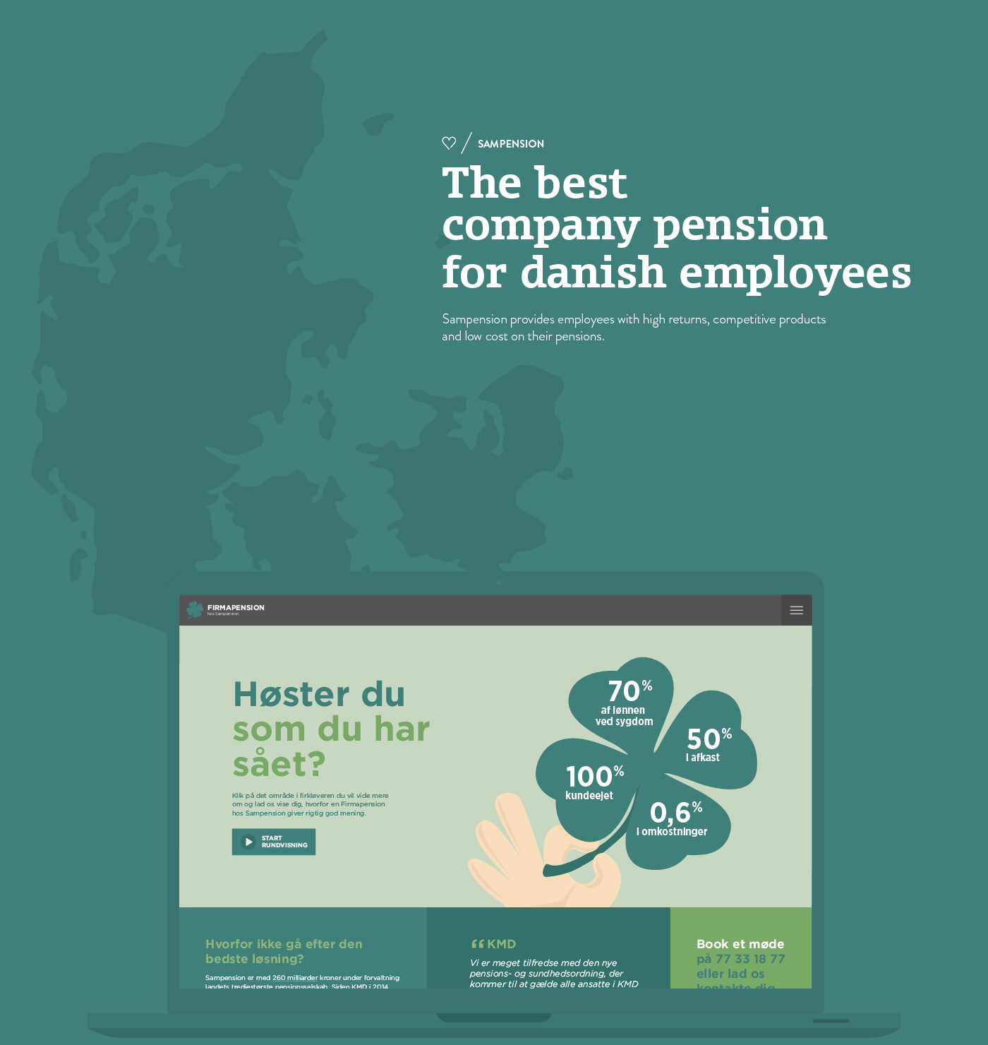 Sampension Firmapension campaign site Website Company Pension pension employees money insurance