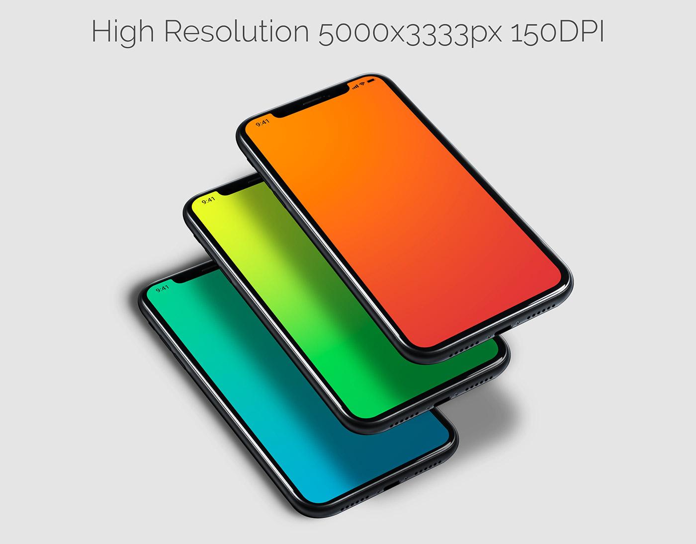 apps iphone mobile Mockup phone presentation Responsive screen template Website