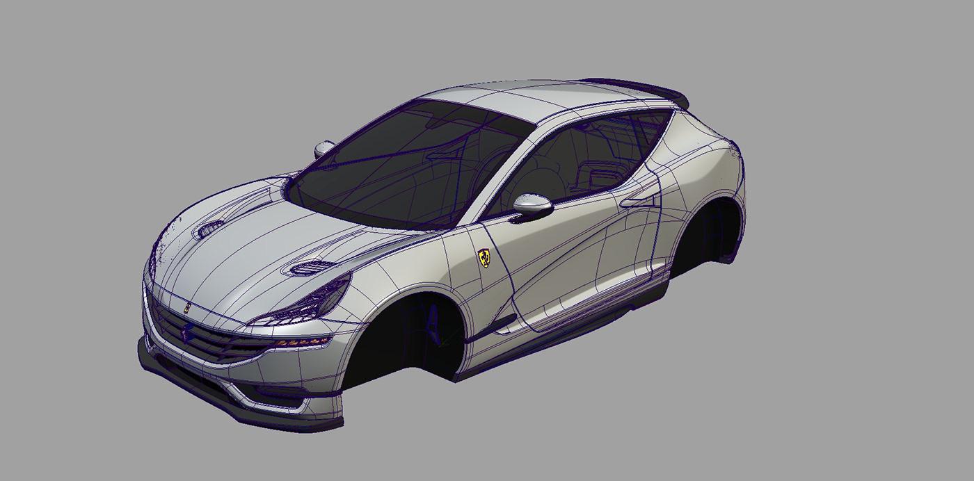 FERRARI Alias keyshot Hatchback 3dmodeling car WRC rally