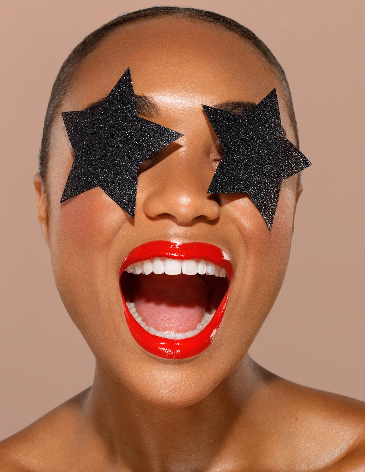 beauty conceptual editorial Emojis Fashion  makeup Mode Montreal portrait