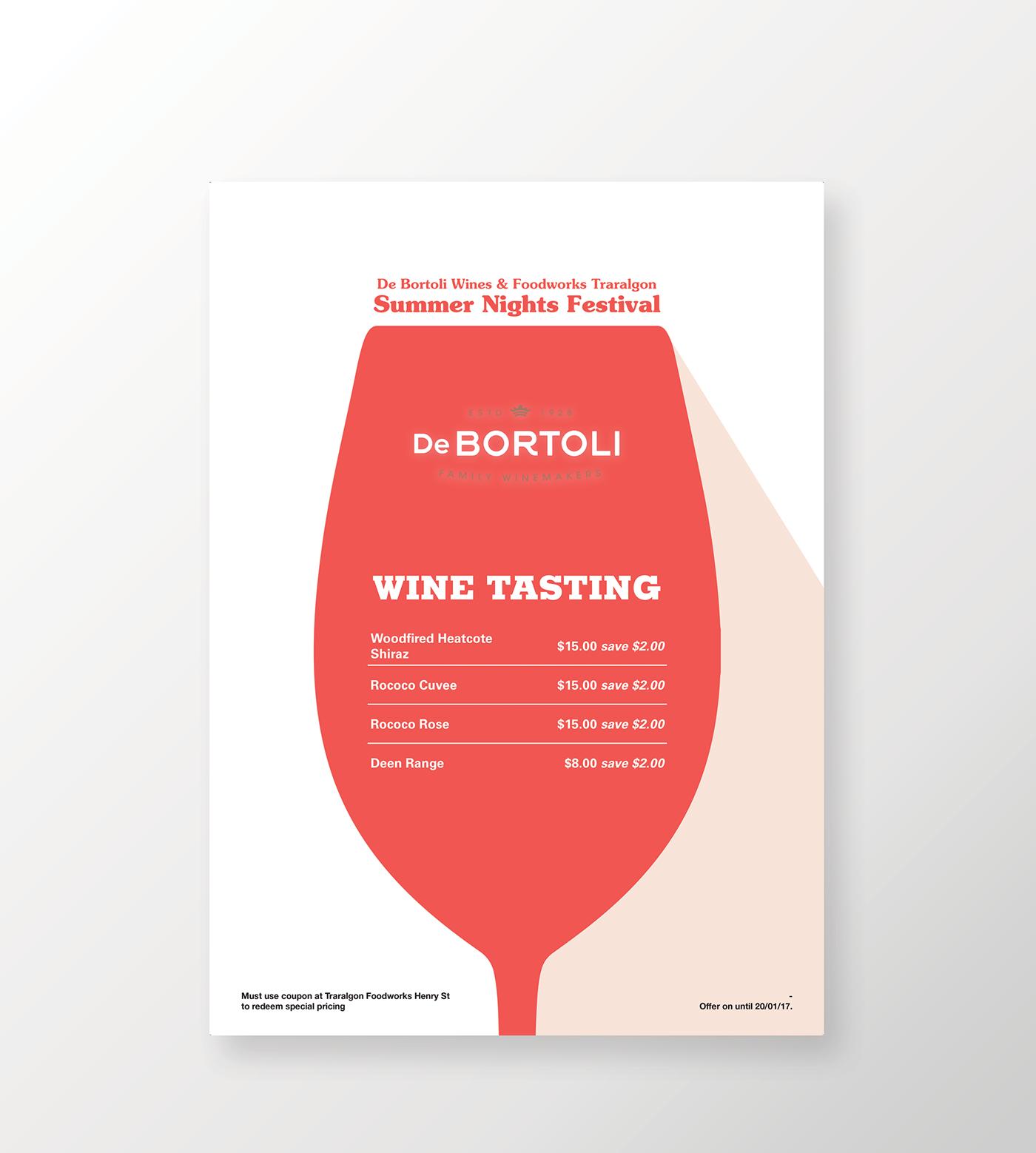 De Bortoli Foodworks O Wine Tasting Poster On Behance