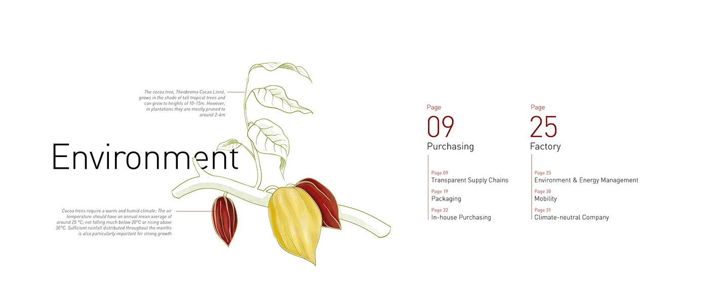 Chapter Graphic from the  Sustainability Report designed by K-tiv from Berlin