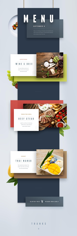精細的29張菜單設計範本欣賞