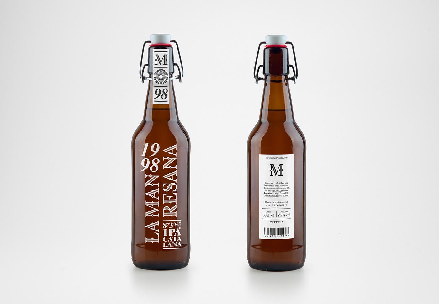 beer cerveza Packaging bottle botella Pack drink branding  logo
