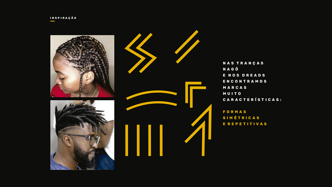 africa afro castle black dreadlock identidade visual logo nago preto trança wakanda