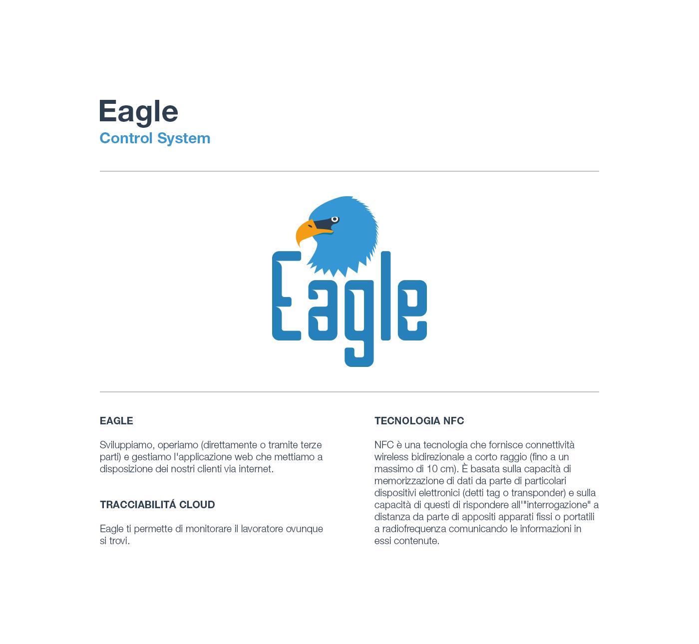 control system tag report badge smartphone tablet controllo remoto cms gestione design ispezione eagle Monitoring NFC