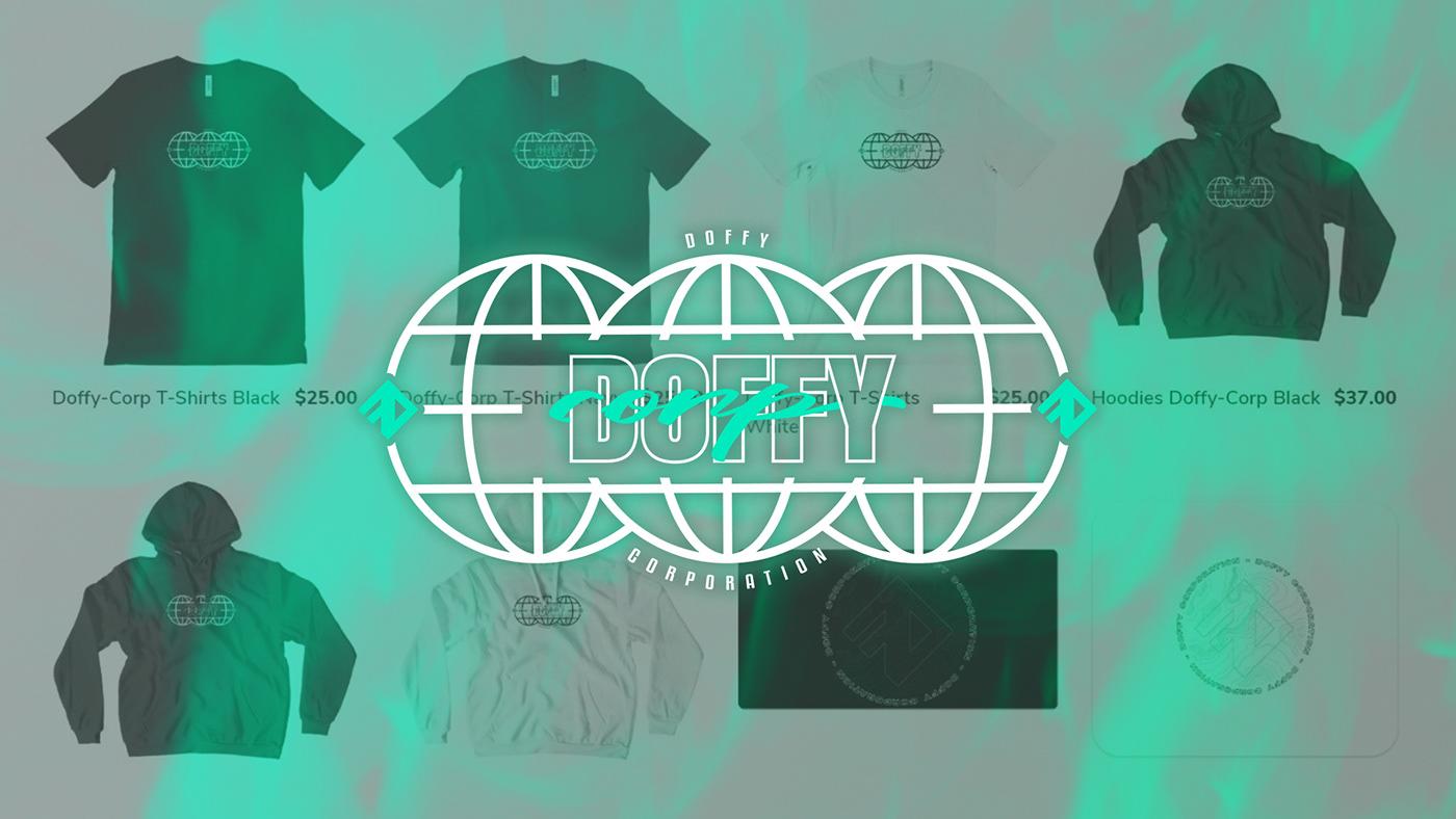 brand identity casquette design doffy hoodies logo Merch Mug  t-shirt Twitch