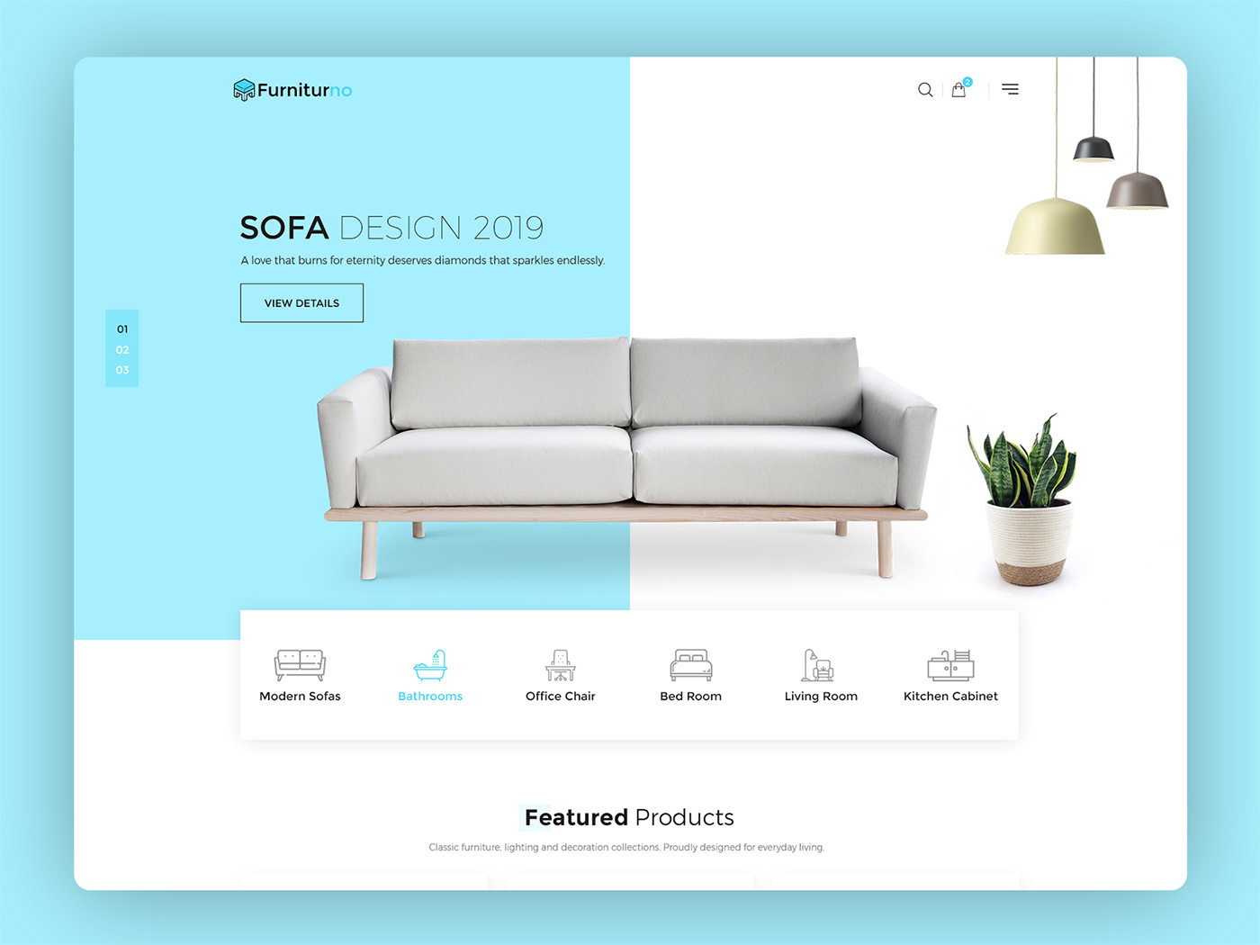 design furniture HTML Template Interior ui design ux Web Design  Website Website templates