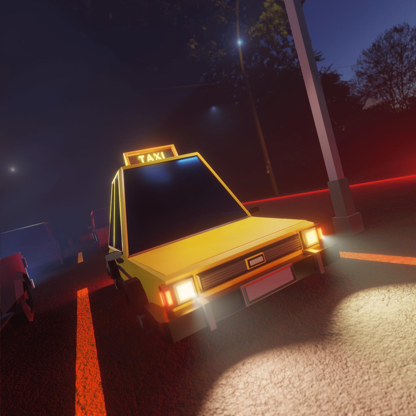 3dart 3dmodeling blender3d conceptart gameart taxi