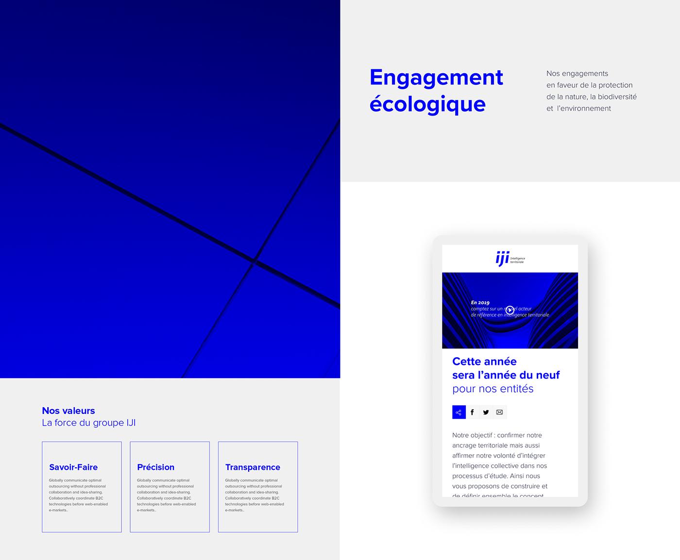 architecture blue corporate grid Modern Design UI ux Website Layout